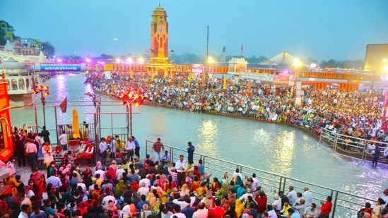 There will be three major bathing dates (shahi snan) on April 12, 14 and 27 during the Kumbh Mela this year. (ANI Photo)