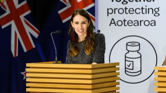 Jacinda Ardern, New Zealand's prime minister, during a news conference in Wellington, New Zealand.(Bloomberg)