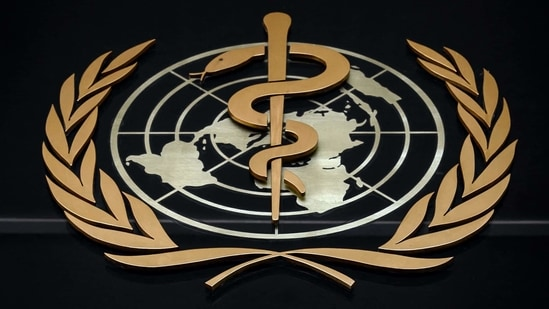 Logo of the World Health Organization (WHO) at the entrance of their headquarters in Geneva.(AFP)