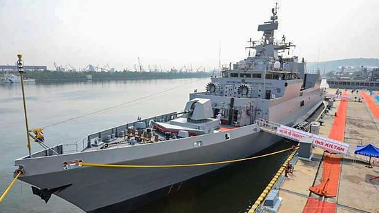 Indian Navy ships INS Satpura, INS Kiltan along with the P8I Long Range Maritime Patrol Aircraft are taking part in three-day exercise.(PTI)