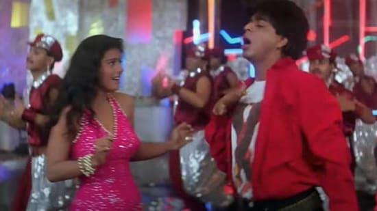 Shah Rukh Khan and Kajol in Yeh Kaali Kaali Aankhen from Baazigar.