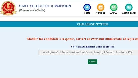 SSC JE answer keys 2021 released(ssc.nic.in)