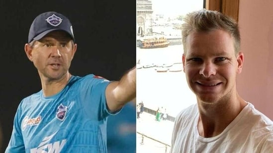 DC head coach Ricky Ponting (L), Steve Smith (R)(HT Collage)