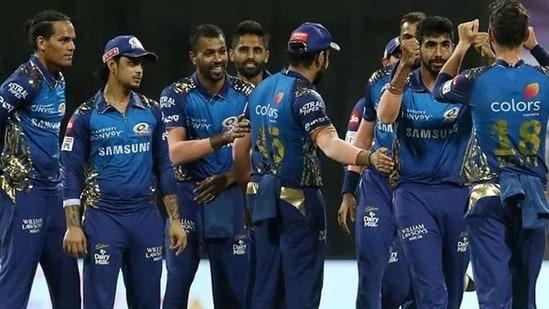 Mumbai Indians players(IPL 2020/Twitter)