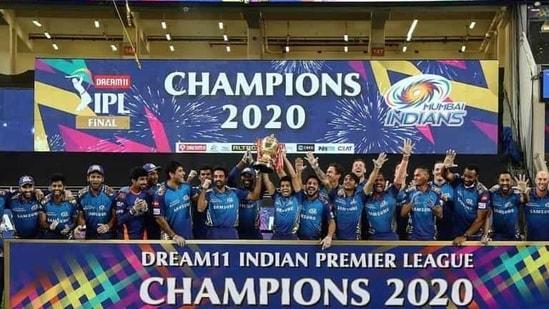 The image shows the winning team of IPL 2020, Mumbai Indians.(Instagram/@iplt20)