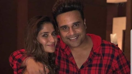 Arti poses with brother Krushna.