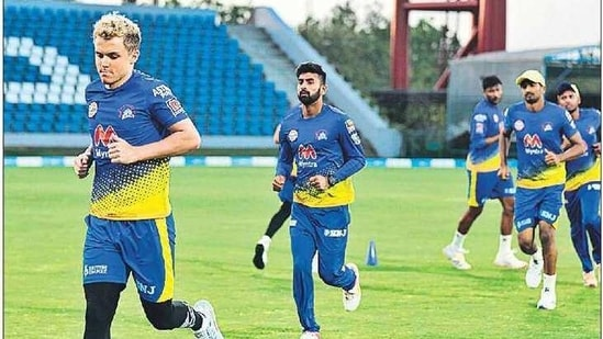 CSK players train at DY Patil stadium and Reliance Park(Twitter)
