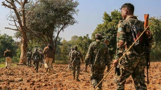 As many as 22 security personnel were killed in an ambush by the Maoists in Chhattisgarh's Bastar district on April 3.(PTI FILE PHOTO)