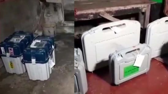 The EVMs and VVPATs were found at the residence of a TMC leader in Uluberia, West Bengal. (Photo: ANI)