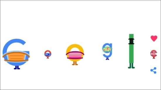 Covid-19: Google letters social distance, wear face masks in new quirky doodle(Google homepage)