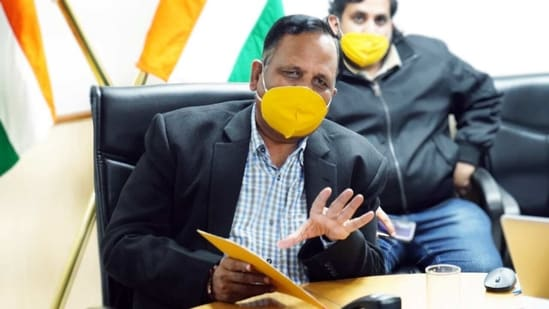 Delhi health minister Satyendra Jain (ANI Photo)