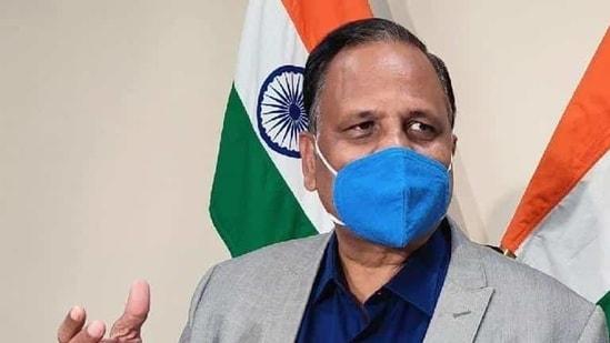 Health minister of Delhi, Satyendar Jain. (HT Photo/File)