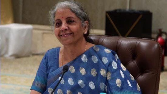 Finance minister Nirmala Sitharaman announced the direct tax disputes resolution scheme in budget 2020 . (ANI)