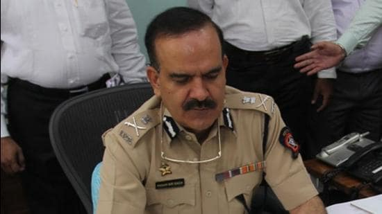 Mumbai Police Commissioner Hemant Nagrale's report to the Maharashtra government is critical of his precedessor Param Bir Singh's role in appointing Sachin Vaze to the criminal intelligence unit. (HT File Photo/Praful Gangurde)