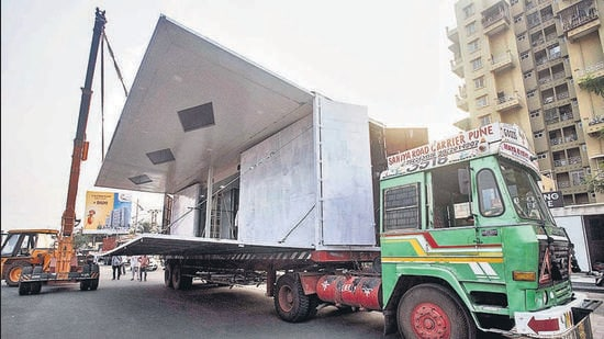 For the past week, Darekar is flooded with bookings from across the state for his mobile wedding hall (Pratham Gokhale/HT Photo)