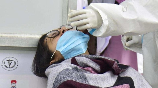 On Tuesday, Chhattisgarh recorded its highest-ever Covid-19 cases.(HT File Photo)