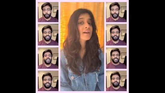 The image is a part of the video showcasing Yashraj Mukhate and Jasleen Royal's rendition of Rangeela Re.(Instagram/@jasleenroyal)