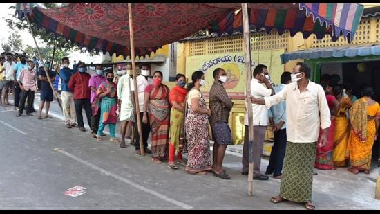 In all, there are 660 ZPTCs and 9,984 MPTCs in Andhra Pradesh, of which as many as 126 ZPTCs and 2,363 MPTCs were elected unanimously during the beginning of the election process in March 2020. (PTI PHOTO.)