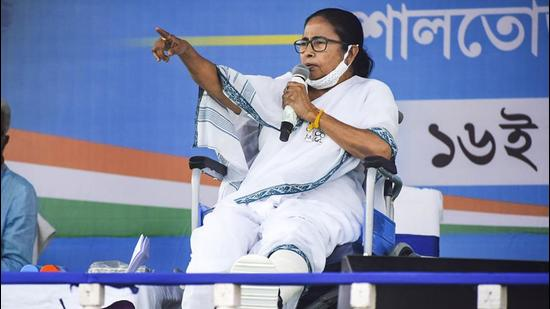 West Bengal CM and TMC chief Mamata Banerjee had appealed to the minority community not to divide the minority votes from a rally at Tarakeshwar in Hooghly district on April 3. (PTI PHOTO.)
