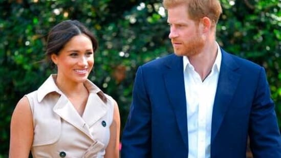 Britain's Prince Harry and Meghan Markle(AP)