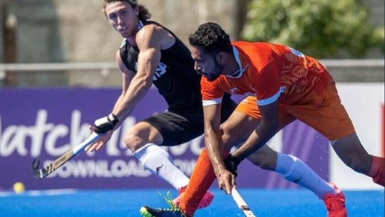 India plays a 4-4 draw against Argentina(Hockey India / Twitter)