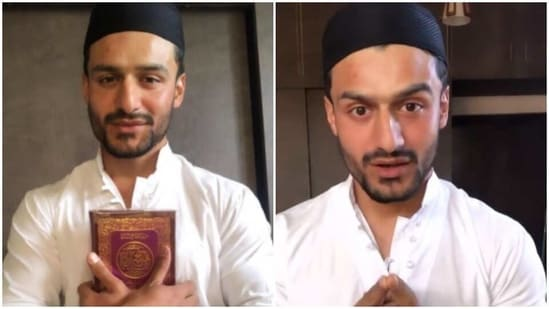 Saqib Khan shared his pictures and videos speaking about the new journey.
