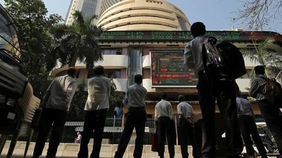The Sensex rose 460.37 points, 0.94%, to 49,661.76, while the Nifty gained 0.92% to 14,819.05.(Reuters )