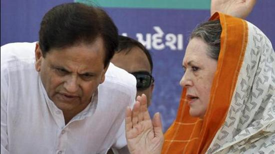 Congress leader Sonia Gandhi with Ahmed Patel. (PTI)
