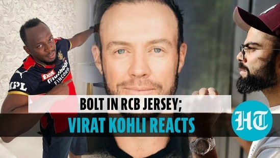Bolt donned the RCB jersey and tweeted tagging Virat Kohli & AB de Villiers