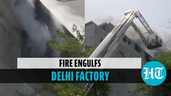 Fire at Dilshad Garden factory, over 100 personnel deployed to douse blaze