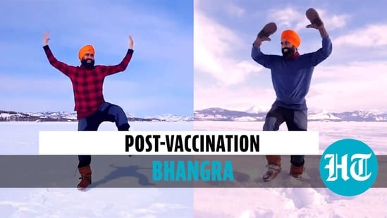 Man gets 2nd Covid vaccine jab, celebrates with Bhangra on frozen lake