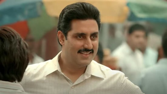 The Big Bull movie review: Abhishek Bachchan plays stock broker Hemant Shah.