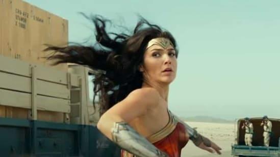 Gal Gadot in a still from Wonder Woman 1984.