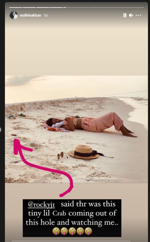 When a crab watched Hina Khan sleeping!