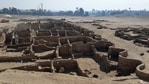 The remains of a 3000 year old city, dubbed The Rise of Aten, dating to the reign of Amenhotep III, uncovered by the Egyptian mission near Luxor.(AFP)