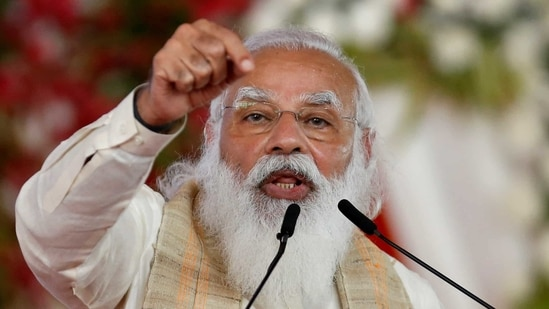 PM Modi addressed the nation on 75th edition of his monthly radio address 'Mann Ki Baat' on Sunday.(Reuters File Photo)