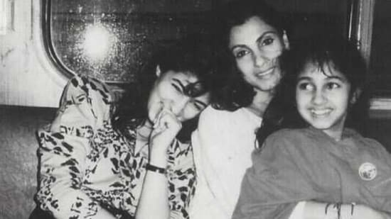Twinkle Khanna often shared throwback pictures with her family members.