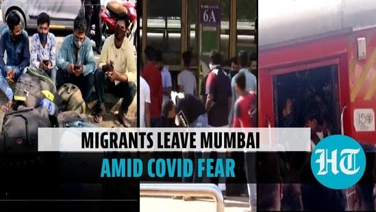 Migrant workers leave Mumbai in jam-packed train fearing lockdown
