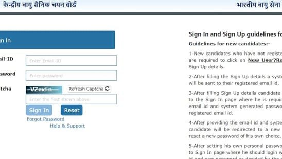 IAF CASB Airmen 2021 exam city for Group X and Y released, check here(Screengrab)