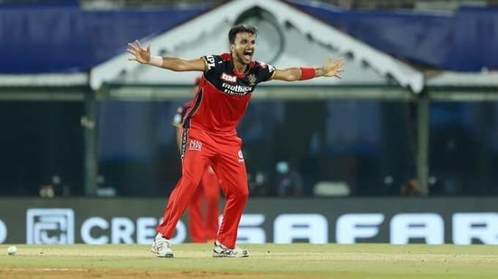 Harshal Patel picked up five wickets against MI in IPL 2021(Twitter)