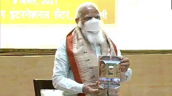 Prime Minister Narendra Modi on Friday released the Hindi translation of the book 'Odisha Itihaas'.(ANI/Twitter)