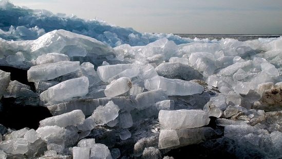 """""""Ice shelves are important buffers preventing glaciers on land from flowing freely into the ocean and contributing to sea level rise,"""" said Ella Gilbert from the University of Reading in the UK.(Unsplash)"""