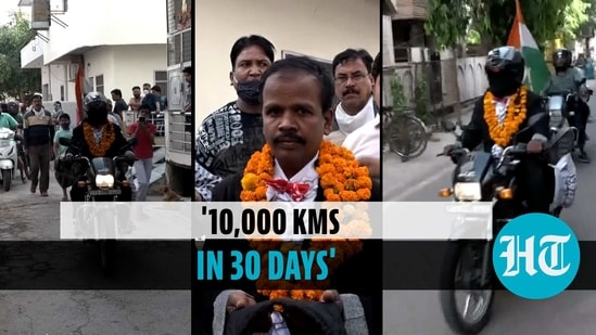 Hyderabad magician travels blindfolded to spread awareness on Covid, road safety