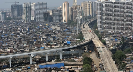 A deserted view of Kandivali, Mumbai. The government is planning to impose a lockdown as Covid-19 cases continue to rise in the state. (Satish Bate/Hindustan Times)