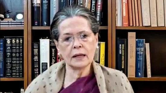 Congress interim chief Sonia Gandhi said on Saturday that since the restrictions were becoming harder and more stringent, it was everyone's responsibility to support those who face the brunt of reduced economic activity. (PTI PHOTO.)