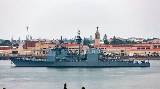 USS John Paul Jones sailed west of Lakshadweep Islands inside India's exclusive economic zone, the US Navy said.(Shutterstock)