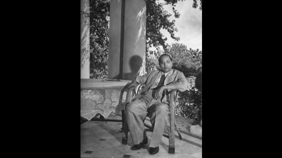Dr BR Ambedkar at home in Bombay in May 1946. (Margaret Bourke-White/The LIFE Picture Collection via Getty Images)