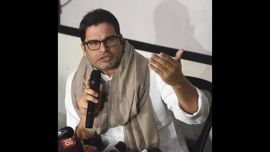 Political strategist Prashant Kishor's audio clips from a Clubhouse interaction have been cited by BJP leaders to claim that the Trinamool also acknowledges the BJP's edge in Bengal (HT Photo/Santosh Kumar)