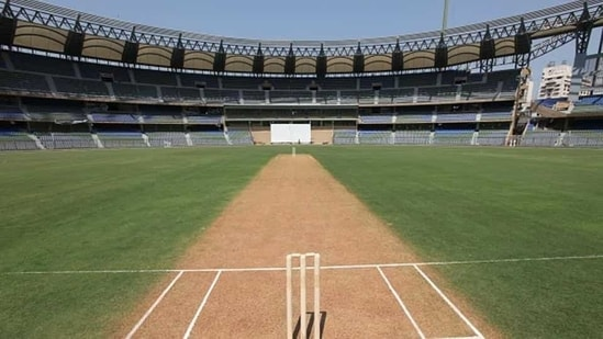 The pitch of Wankhede stadium, Mumbai Cricket Association (representational image)(Hindustan Times via Getty Images)