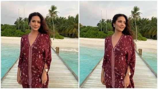 Esha Gupta in the Maldives(Instagram/ egupta )